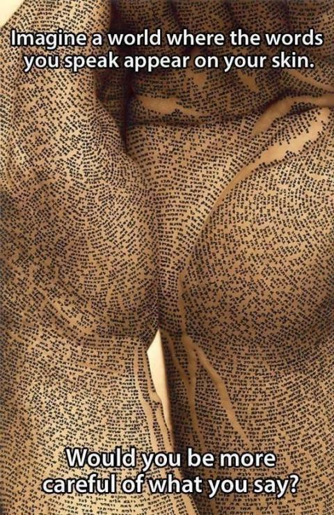 Your Writers Words On Your Skin